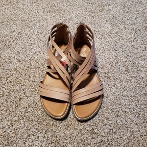 FRANCO SARTO Beige/Nude Gladiator Sandals 8M